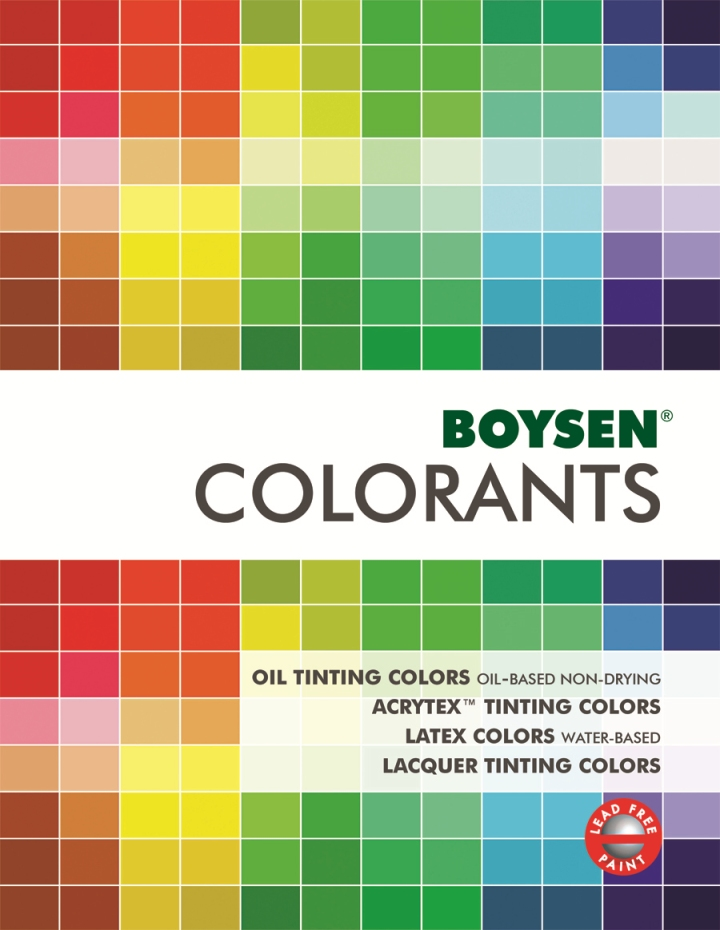 BOYSENR AcrytexTM Tinting Colors