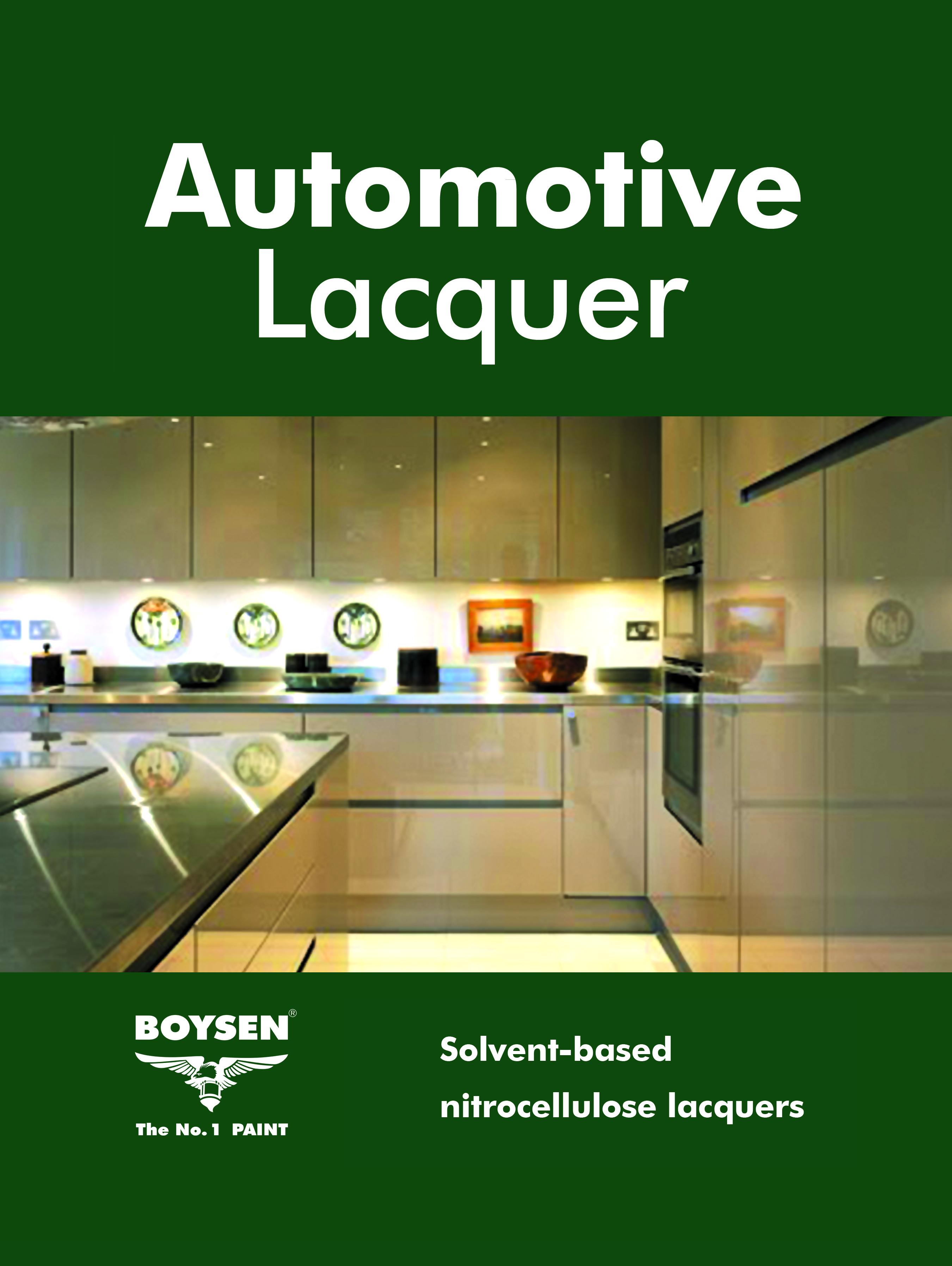 Pacific Paint (Boysen) Philippines, Inc , - Automotive Lacquer