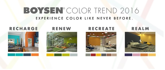 BOYSEN<sup>&reg;</sup> Reveals Color Trend 2016