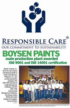 "First Filipino Paint Company to Achieve ""Responsible Care"" Status"
